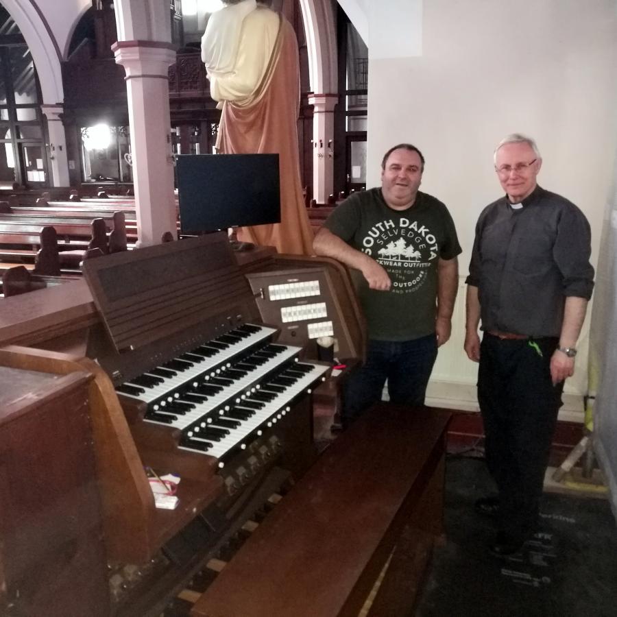 An urgent call-out to St Marys R. C. Church Merthyr Tydfil.